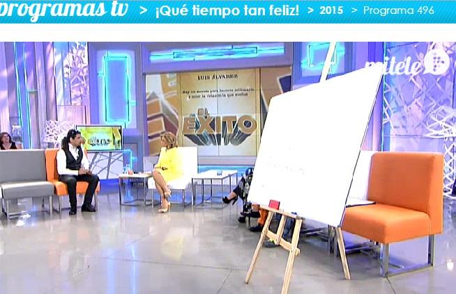 Luis Álvarez presenta El Éxito con María Teresa Campos